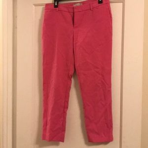 Pink slim cropped pants